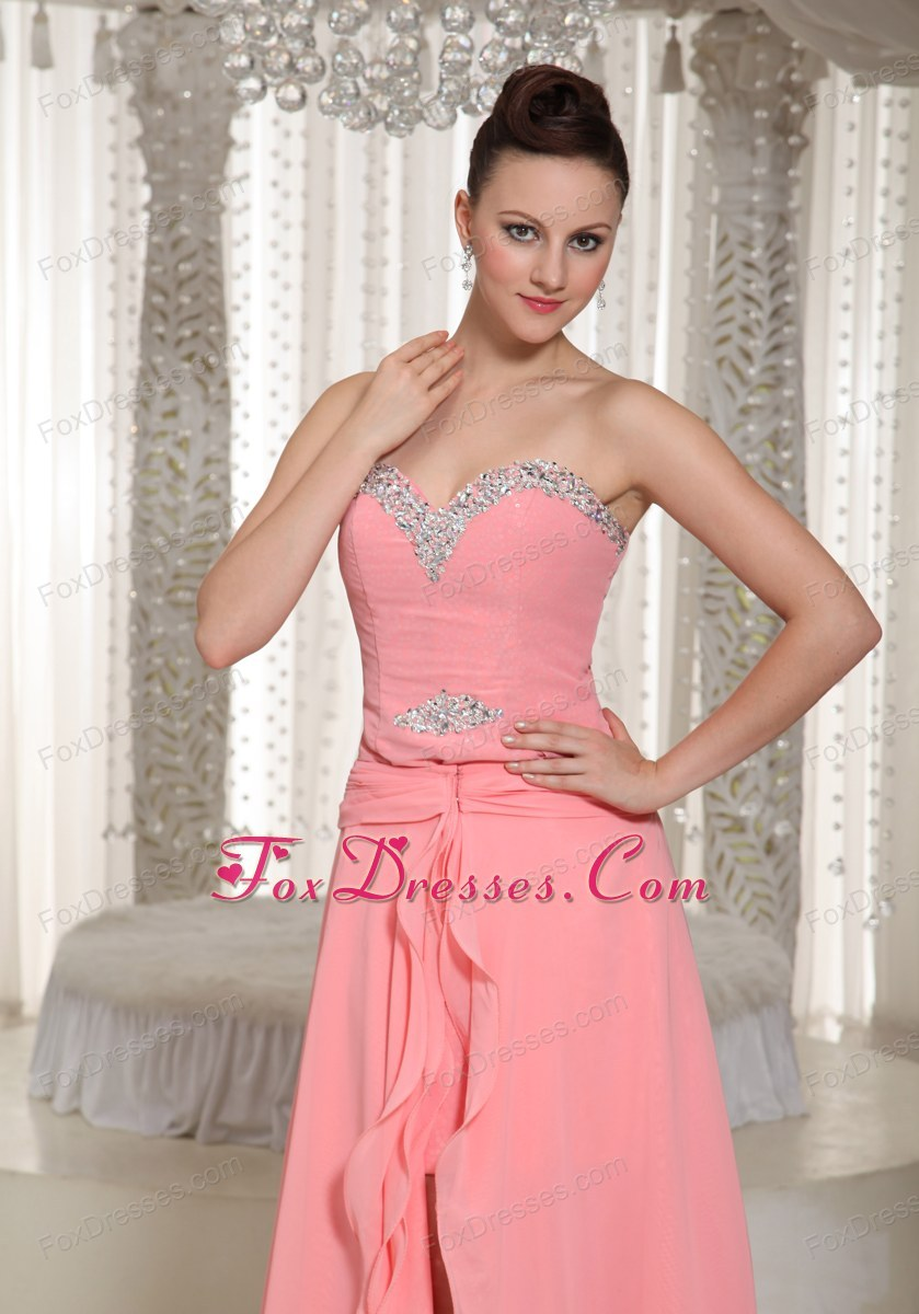 High-low Prom Dress With Beading Sweetheart