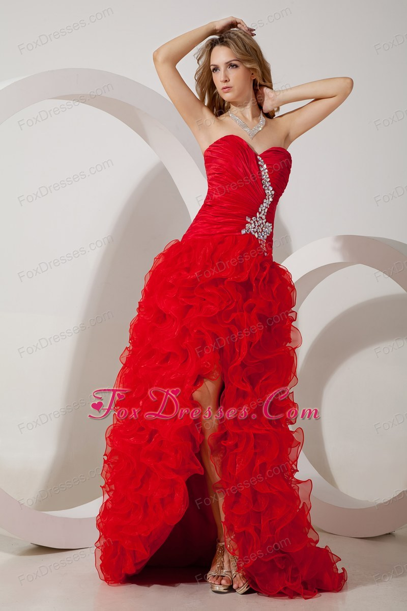 Column sweetheart high low beading prom dress red column sweetheart high low beading prom dress ombrellifo Choice Image