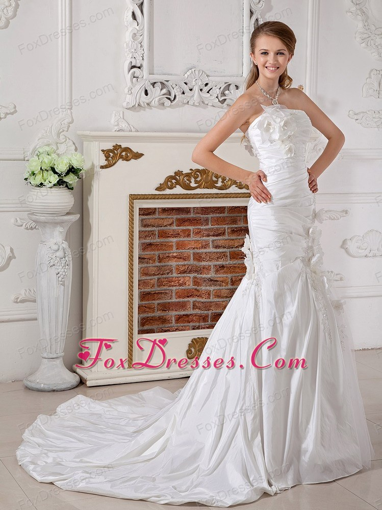 cute strapless wedding dress