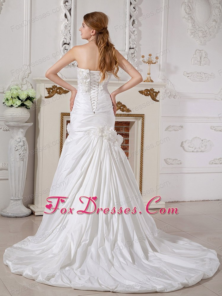 wonderful lace up back wedding gown