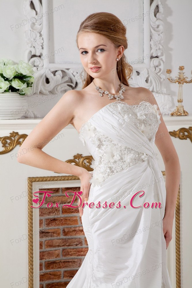 a line court train bridal gown