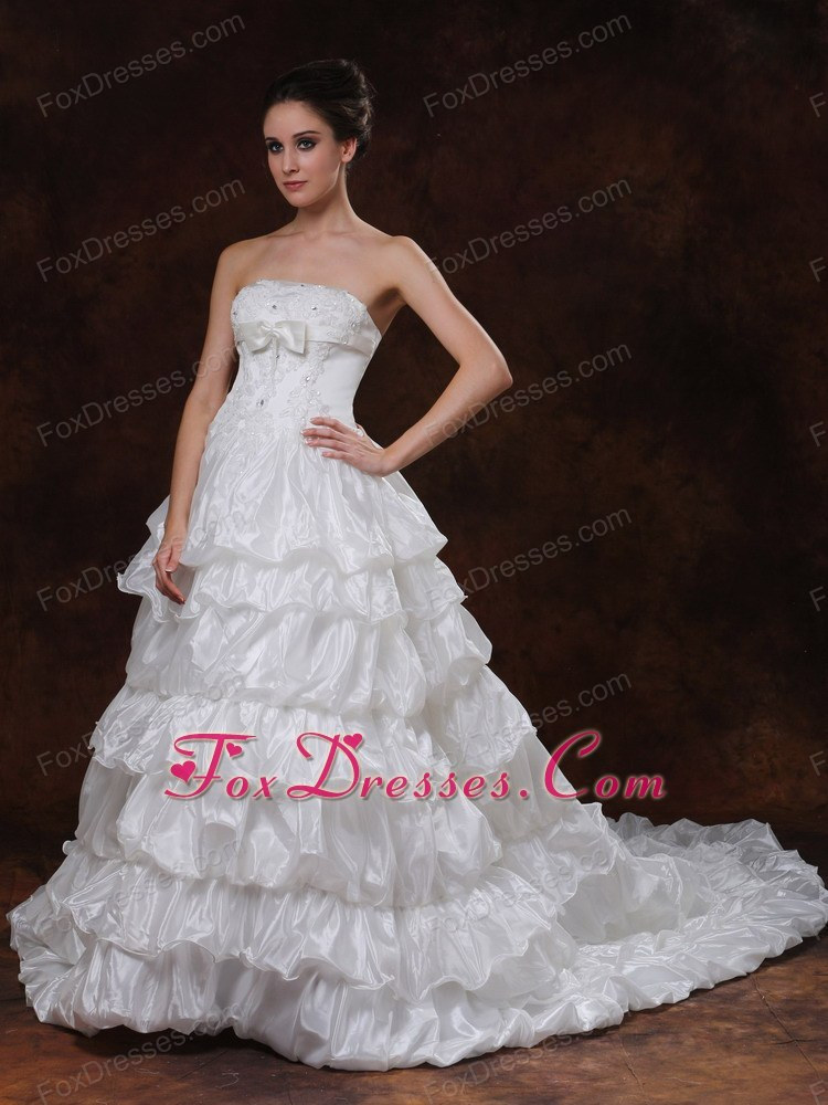 modernistic holiday bridal gowns tie back for you