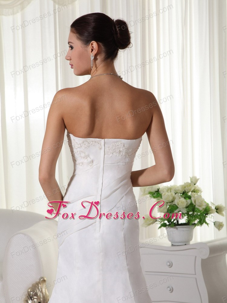 recommended wedding gown dresses with brush train