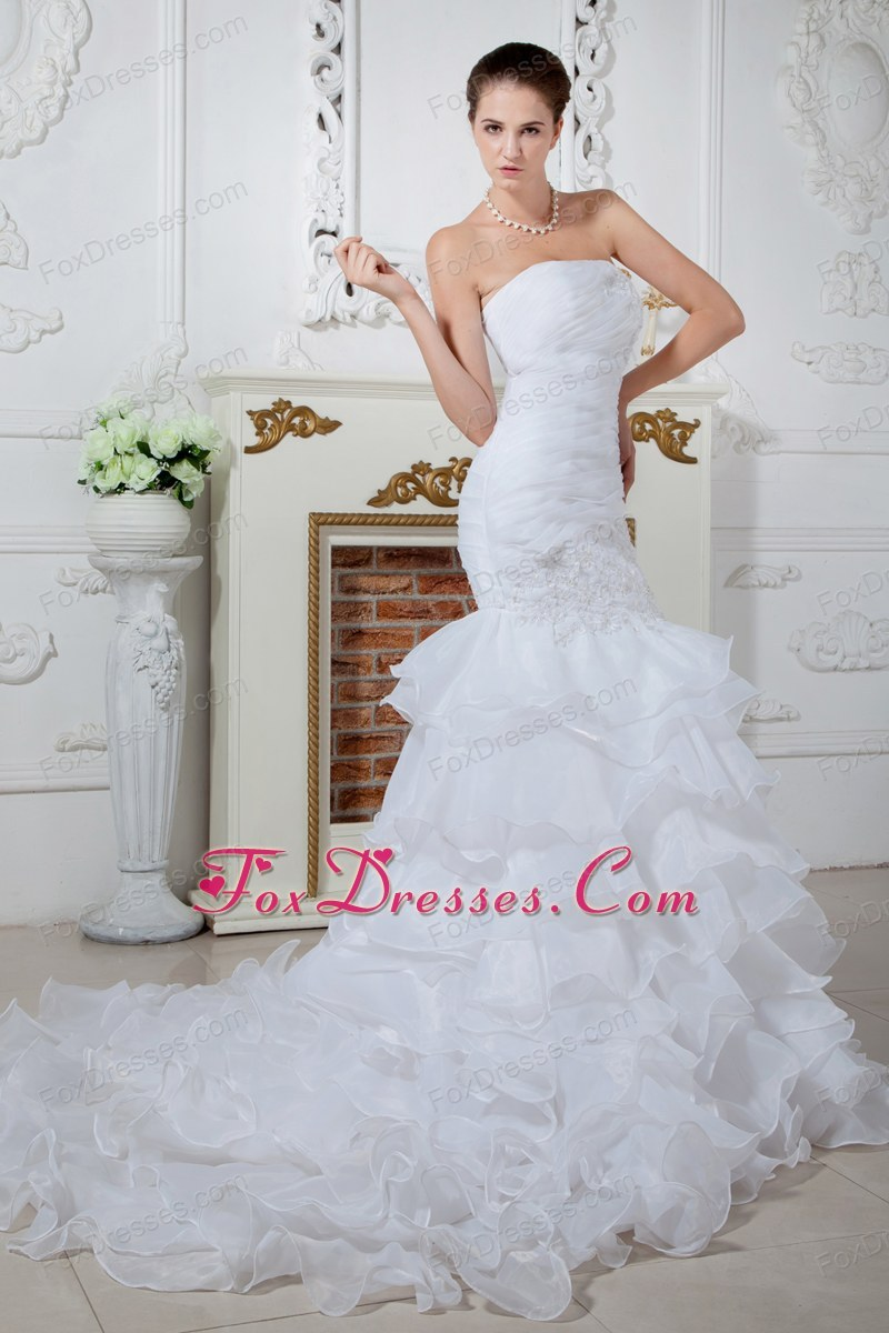 holiday strapless wedding dress hot in summer