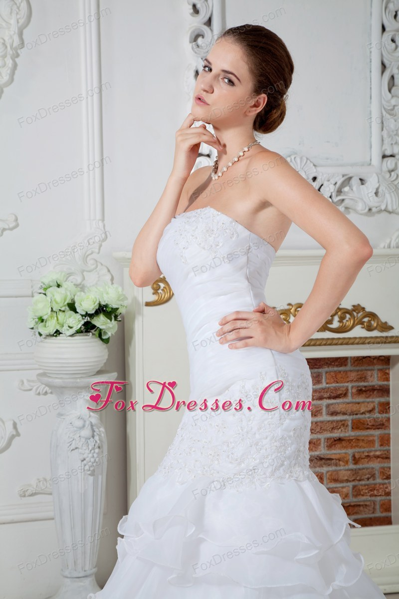 in fashion appliques bridal dress for weddings