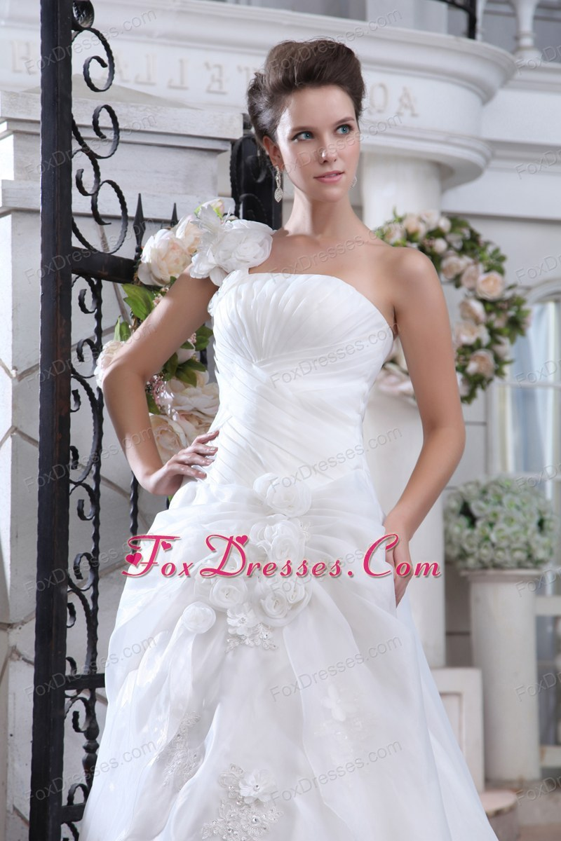 summer bridal gown with train