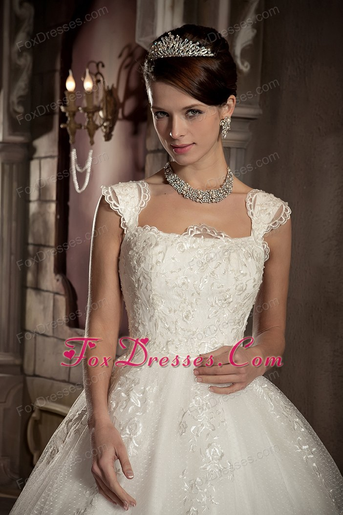 Ball Gown Chapel Popular Lace Wedding Dress Square