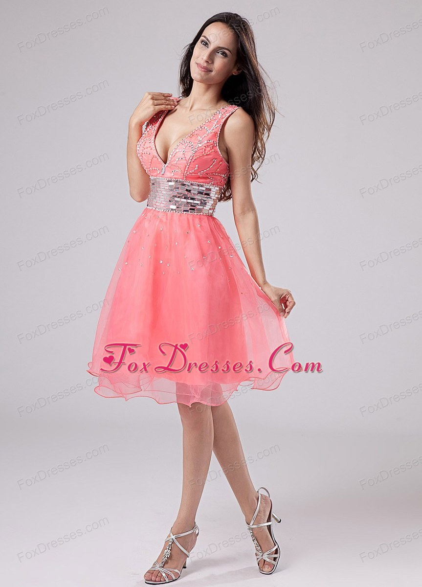 Knee-length Prom Dress